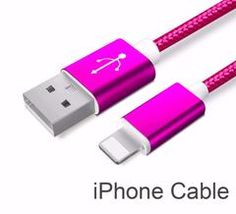 Rose Red Nylon Line and Metal Plug Micro USB Cable for iPhone 6 6s Plus 5s 5 iPad mini / Samsung / Sony / HTC Accessory