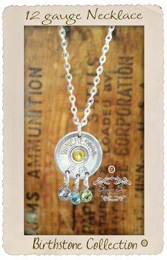 12 gauge Shotgun Bullet Jewelry Birthstone by ScarlettSage on Etsy Shotgun Shell Crafts, Shotgun Shell Jewelry, Ammo Jewelry, Brass Jewelry, Stamped Jewelry, I Love Jewelry, Jewelry Crafts, Handmade Jewelry, Jewelry Making