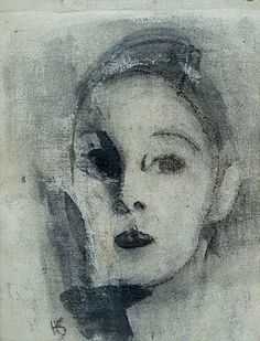 """Helene Schjerfbeck self-portrait. Circa 1926. From """"100 Self-Portrait Drawings from 1484 to Today"""""""