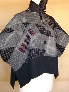 Cuff Sleeve Jacket by Juanita Girardin Uncommon Textiles. Would be terrific with slim black ankle length pant and ballet flats.
