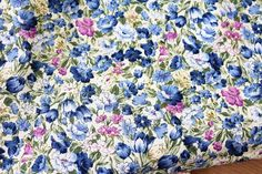 Colorful Floral Cotton Fabric Three Colors Available by JWHouse, $6.50