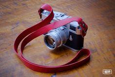 Vivid Red Leather Strap for Mirrorless Camera (sony nex, fuji, olympus) #Hevy