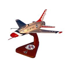 "After a major accident, the USAF Thunderbirds reverted from F-105 Thunderchief to the F-100D which they operated from 1964 until it was replaced by the F-4 Phantom II in 1968. For the 1966-68 seasons, the USAF ""Thunderbirds"" aerobatic team discarded their tail numbers, which were replaced by ""ONE"", ""TWO"", ""THREE"" etc, painted on the rear fuselage of their F-100d Super Sabres."