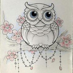 Afbeeldingsresultaat voor new school girly owl tattoos Owl Tattoo Drawings, Animal Drawings, Art Drawings, Owl Tattoos, Buho Tattoo, Tattoo Fleur, Owl Sketch, Owl Coloring Pages, Owl Tattoo Design