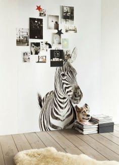 Carta da parati magnetica con stampe di animali * Animal print magnet wallpaper