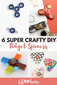 Fidget spinners are super popular right now. Check out these DIY designs instead of buying you own!