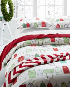 Holiday Post Percale Bedding - Garnet Hill