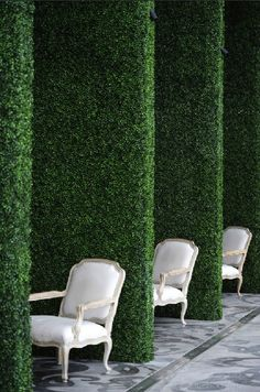Boxwood Pillars. Anything can be created with our artificial boxwood panels