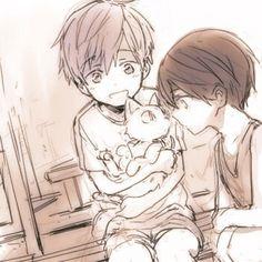 Free! Iwatobi Swim Club - awwww....Makoto and Haru as kids