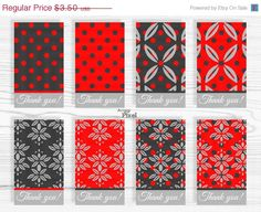 WEEKEND SALE 50  OFF Printable Gift Tags Thank you by ArigigiPixel, $1.75