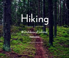 Hiking in Finnland - den Sammalistonpolku Trail in der Nähe von Nastola mit #OutdoorsFinland. Ich habe mich durch den Wald gequält. ;)