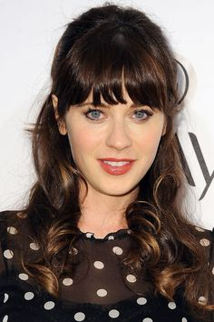 Hair inspiration from Alexa Chung, Dakota Johnson, Karlie Kloss and Zooey Deschanel Hair, Emily Deschanel, Brunette Beauty, Hair Beauty, Emily Vancamp, Cute Cuts, Hollywood Celebrities, Great Hair, Hair Hacks