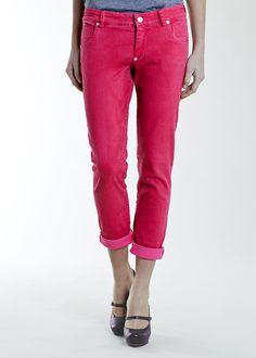 Pantalone Rosa : Pantalone super stretch Pink