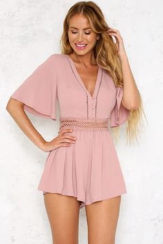 Another Level Playsuit Blush