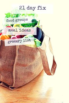 21 Day Fix Grocery List on a Budget So you are ready to get ready for the 21 Day Fix. When you first sit down it can be a little overwhelming, but I am here to help make things simple for you. You also may be like me in that you ha...