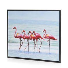 Coco Maison schilderij Flamingo on the go - 85 x 105 cm