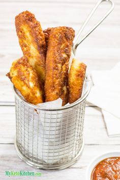 Ketogenic Crunchy Haloumi Cheese Fries