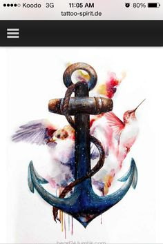 Anchor With Birds