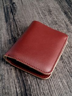 Women's red wallet made of genuine cow leather, handmade production. Shipped from France for only ! Available on Etsy in 4 colors (brown, dark blue, green and red). This women's red wallet is a perfect gift for any occasion ! Blue Green, Dark Blue, Leather Accessories, Cow Leather, Lady In Red, France, Wallet, Brown, Colors