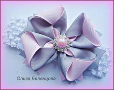 Diy Lace Ribbon Flowers, Ribbon Art, Diy Ribbon, Ribbon Crafts, Ribbon Bows, Fabric Flowers, Ribbons, Diy Hair Bows, Bow Hair Clips