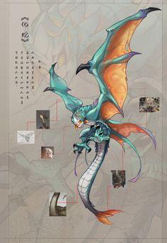 animals design Concept Anime - Shounen And Trend Manga Monster Concept Art, Fantasy Monster, Monster Art, Mythical Creatures Art, Alien Creatures, Magical Creatures, Creature Concept Art, Creature Design, Fantasy Beasts