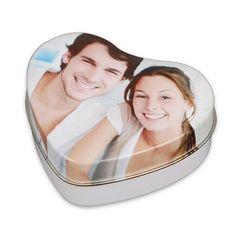 Petite boite en forme de cœur personnalisable avec une photo sur Idée Cadeau Photo !