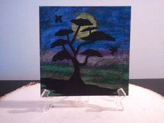 Tree with Birds In Moon Light by TsWorldOfArt on Etsy, $9.00