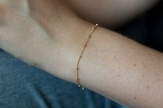Gold Satellite Chain Bracelet, Gold Bead Chain Bracelet, 14k Gold Filled or Sterling Silver, Dainty Gold Bracelet, Minimalist Thin Chain Dainty Gold Rings, Gold Filled Jewelry, Bar Earrings, White Earrings, Beautiful Gifts For Her, Thin Chain, Garnet Bracelet, Gold Beads, Sterling Silver