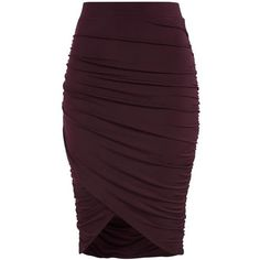 ANDERSON WRAP SKIRT featuring polyvore women's fashion clothing skirts purple skirt wrap skirt
