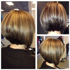23 Stylish Bob Hairstyles Easy Short Haircut Designs for Women - PoPular Haircuts Stacked Bob Hairstyles, Short Bob Haircuts, Bobbed Haircuts, Graduated Bob Haircuts, Haircut Short, Asymmetrical Hairstyles, Layered Haircuts, Short Hair With Layers, Short Hair Cuts For Women