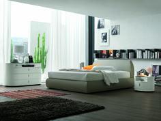 Sasso Bed Modern Bedroom at Spazio di Casa
