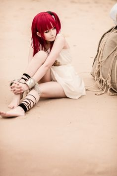 Cosplay of Morgiana from the anime Magi: The Labyrinth of Magic