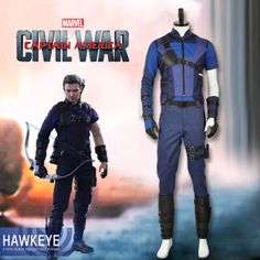 Hot-Captain-America-Civil-War-Hawkeye-Cosplay-Costume-Custom-Size-Battleframe