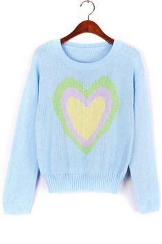Sweet Heart Sweater OASAP.com