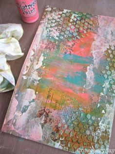 One Lucky Day: Layering with Happy Colors Art Inspo, Art Journal Inspiration, Distress Ink Techniques, Art Journal Techniques, Projects For Kids, Art Projects, Art Nouveau, Altered Canvas, Altered Art