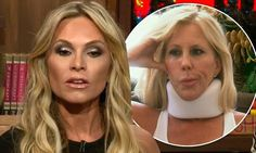 Tamra Judge calls out Vicki Gunvalson on WWHL over crash injuries