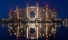 Dubai — Atlantis The Palm. Atlantis Hotel at the very tip of Palm Jumeirah Island, Dubai Vacation Destinations, Dream Vacations, Vacation Spots, Amazing Buildings, Amazing Architecture, Modern Architecture, Atlantis, Cityscape Dubai, Oh The Places You'll Go