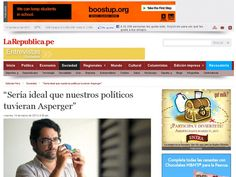 Ernesto Reano, Psychologist.   Specialist in people with Asperger syndrome        Maritza Espinoza.