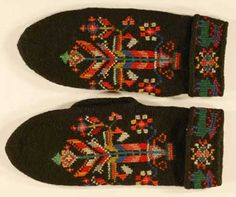 vintage Icelandic mittens