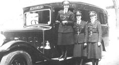 To celebrate International Women's Day, here's a 1942 photograph showing the Police ambulance with three drivers from the wartime Women's Auxiliary Police Corps.