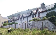 Widows' Row - Newcastle, County Down, Northern Ireland. This is a terrace of twelve small houses built by public subscription to house the widows and orphans of 46 fishermen lost in the storm of 1843.