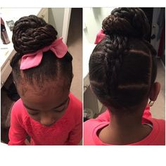 http://www.shorthaircutsforblackwomen.com/teaching-little-black-girls-to-show-their-hair-love-care/ so pretty - Quick girls hairstyles for school & play, easy braids & little kids styles for long hair & short curly hair too. Cute baby and toddler designs with flowers & simple hairstyles tutorials for tweens. #naturalhair #teamnatural