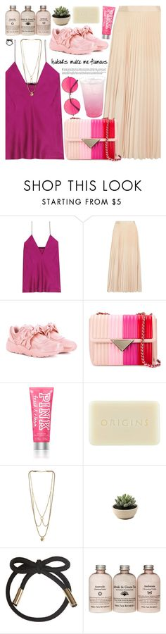 """""""."""" by makeupgoddess ❤ liked on Polyvore featuring Haider Ackermann, Alice + Olivia, Puma, Origins, MANIAMANIA and Topshop"""