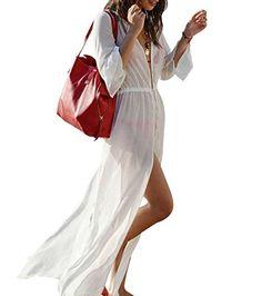2958607a2e Women's Swimwear Cover Ups - Yonala Womens Chiffon Side Split Maxi Beach  Dress Bikini Swimsuit Cover