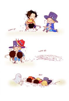 Ace, Sabo & Luffy and the devil fruits...