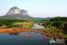 Mount Danxia Geological Park in Guangdong