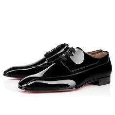 Christian Louboutin Spain Official Online Boutique - ORLEANESS PATENT Black Patent calfskin available online. Discover more Men Shoes by Christian Louboutin Men S Shoes, Boys Shoes, Louboutin Online, Mens Designer Shoes, Christian Louboutin Heels, Derby Shoes, Pretty Shoes, Black Flats, Formal