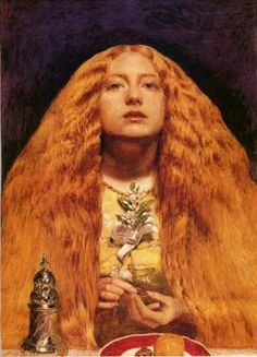 The Bridesmaid, painted by Sir John Everett Millais. Shows that even back then it was all about the hair !