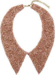 Beaded Pink Peter Pan Collar