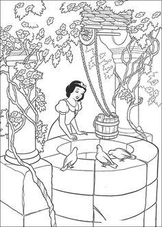 Dibujos para Colorear Blancanieves y los siete enanitos 7
